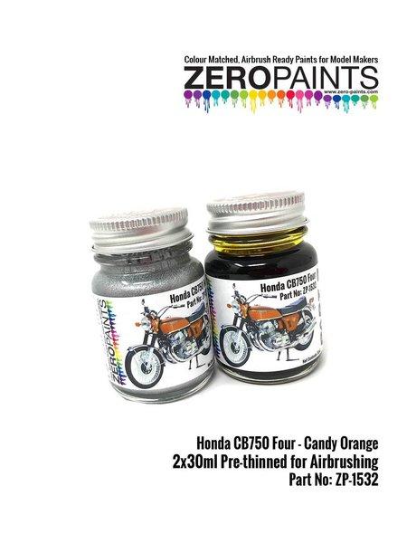 Honda CB750 Four Candy Orange - 2 x 30ml | Paints set manufactured by Zero Paints (ref.ZP-1532) image