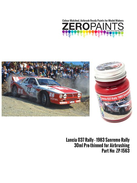 Lancia 037 Rally 1983 Sanremo Rally red - 1 x 30ml | Paint manufactured by Zero Paints (ref. ZP-1563) image