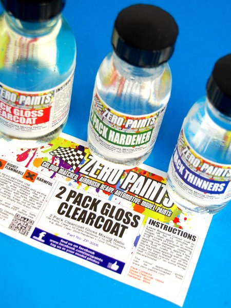 2 Pack Clear Coat 100ml (Urethane) FULL PACK | Clearcoat manufactured by Zero Paints (ref. ZP-3006) image