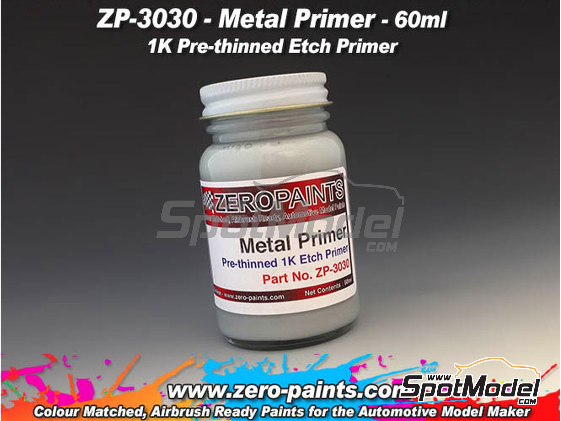 Image 1: Metal primer pre-thinned - 1 x 60ml | Primer manufactured by Zero Paints (ref. ZP-3030)