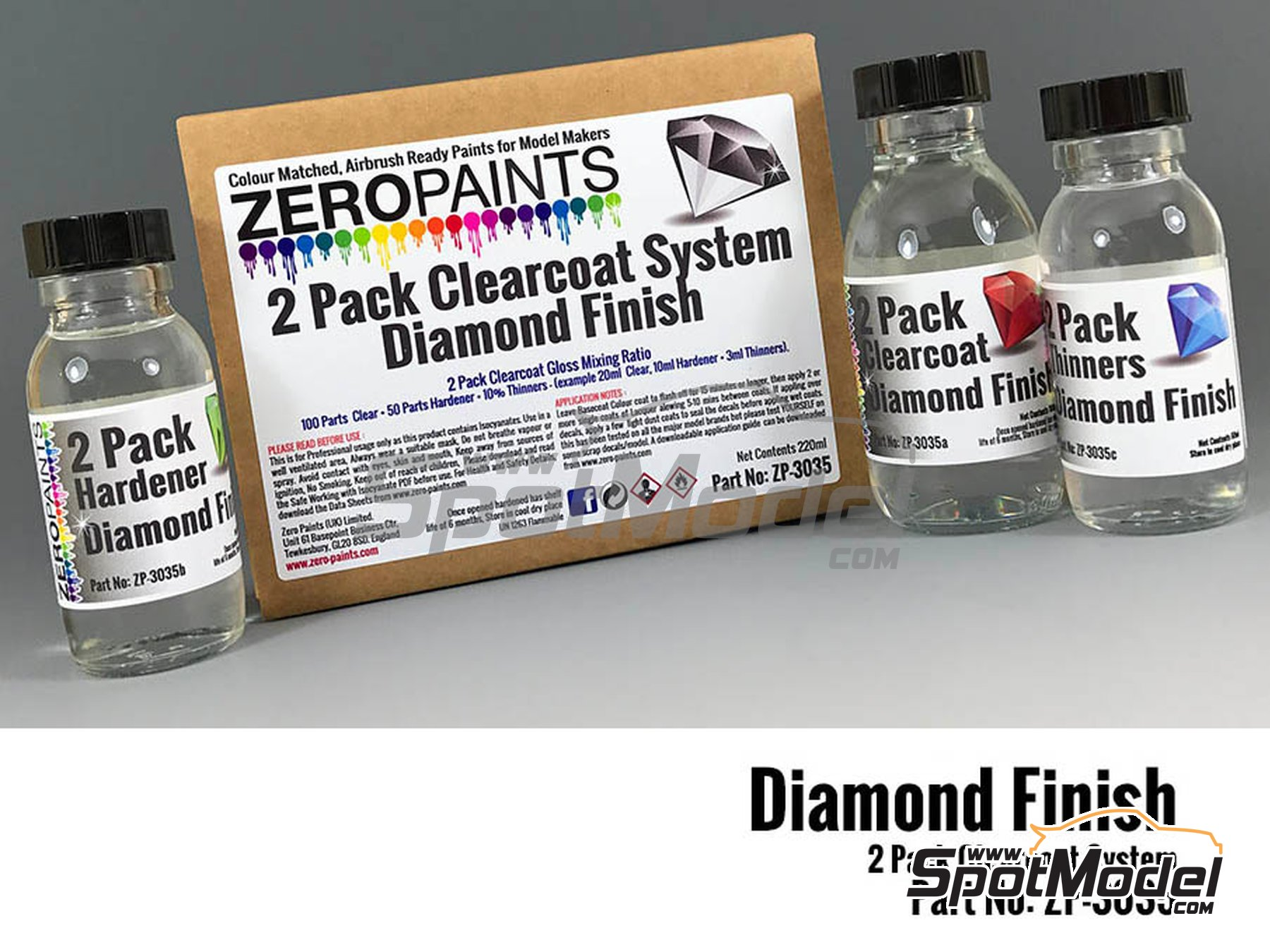 Image 1: Diamond Finish - 2 Pack GLOSS Clearcoat System - 2K Urethane | Barniz fabricado por Zero Paints (ref. ZP-3035)