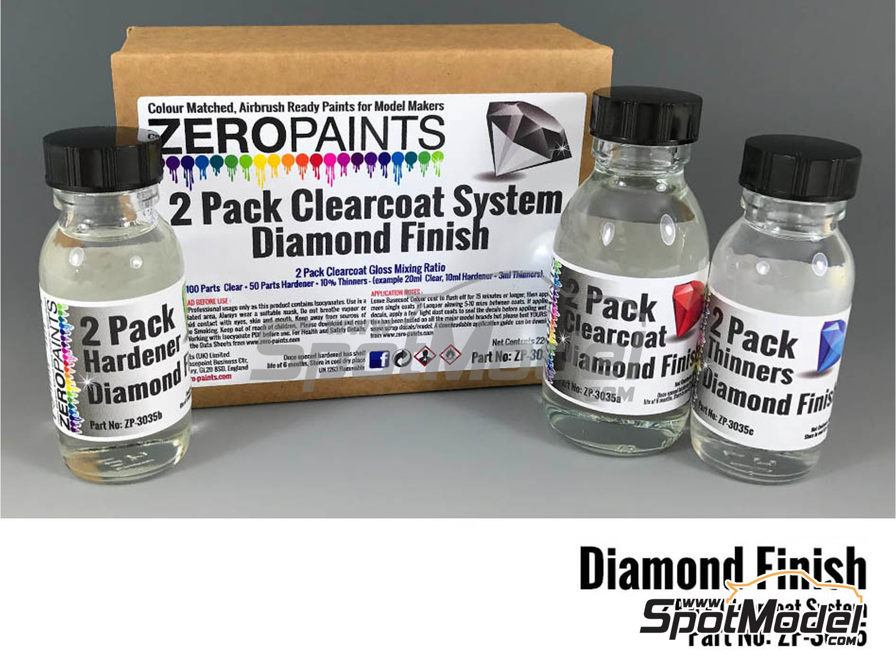 Image 2: Diamond Finish - 2 Pack GLOSS Clearcoat System - 2K Urethane | Clearcoat manufactured by Zero Paints (ref. ZP-3035)
