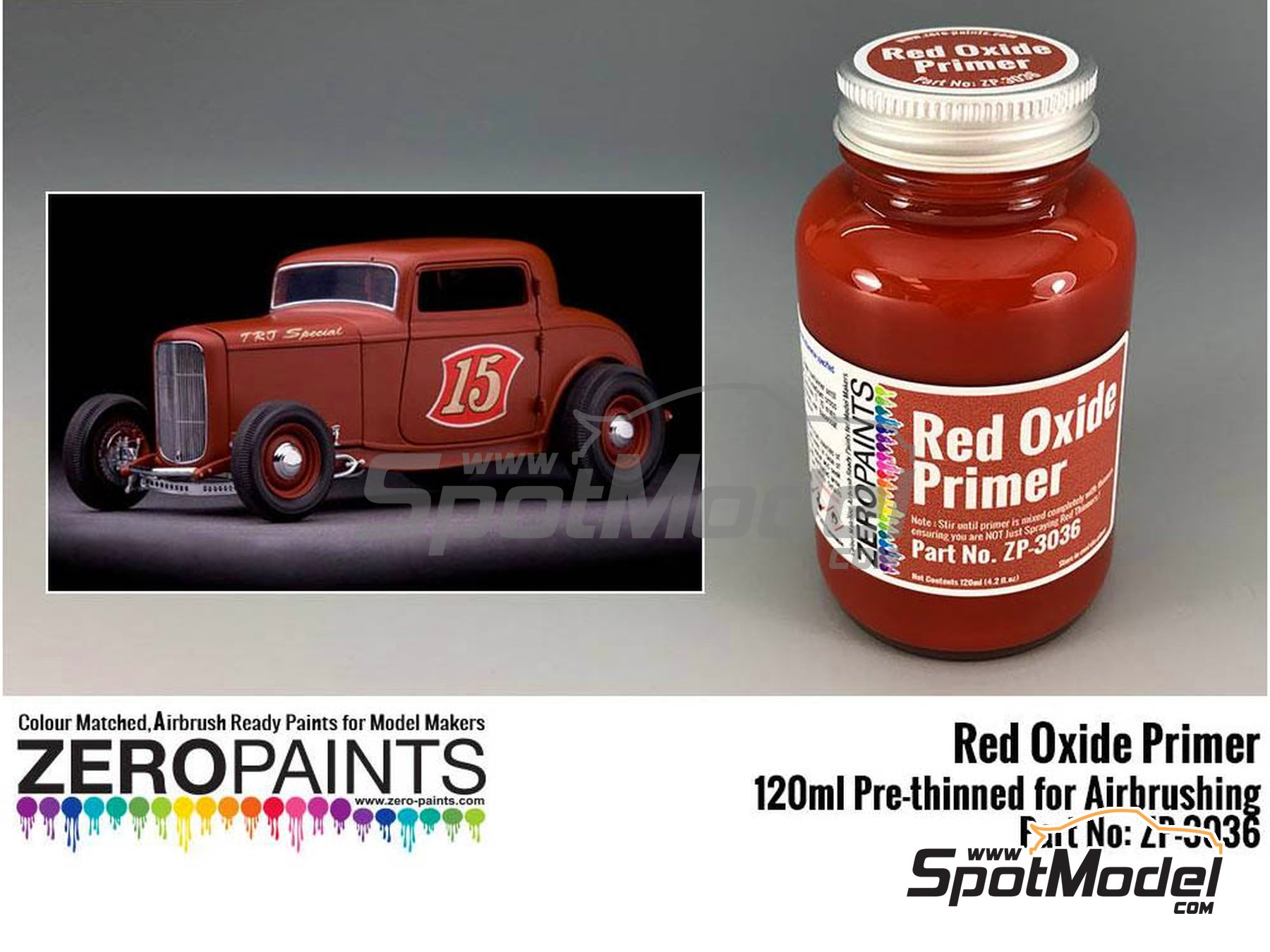 Image 1: Red oxide | Primer manufactured by Zero Paints (ref. ZP-3036)