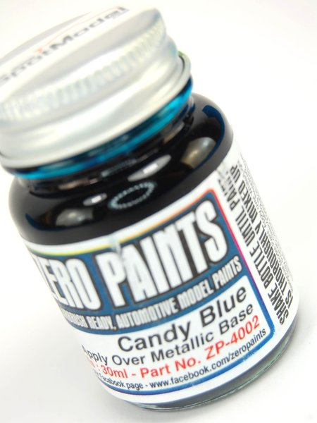 Candy Blue Paint - 1 x 30ml   Paint manufactured by Zero Paints (ref.ZP-4002) image