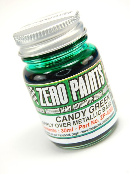 Verde candy - Candy Green Paint - 1 x 30ml | Pintura fabricado por Zero Paints (ref. ZP-4003) image
