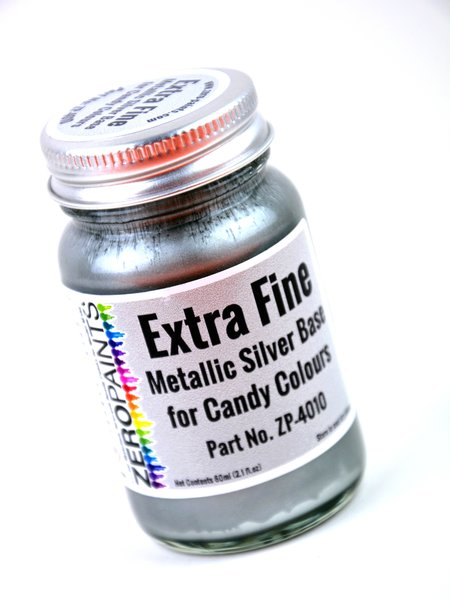 Extra fine metallic silver base - 1 x 60ml | Paint manufactured by Zero Paints (ref.ZP-4010) image