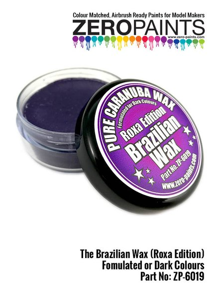 The Brazilian Wax - Pure Carnauba Wax - Roxa edition para colores oscuros | Pulimento fabricado por Zero Paints (ref. ZP-6019) image