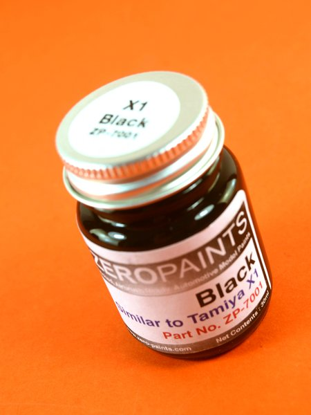 Black - Similar to Tamiya X-1 - 1 x 30ml | Paint manufactured by Zero Paints (ref.ZP-7001) image