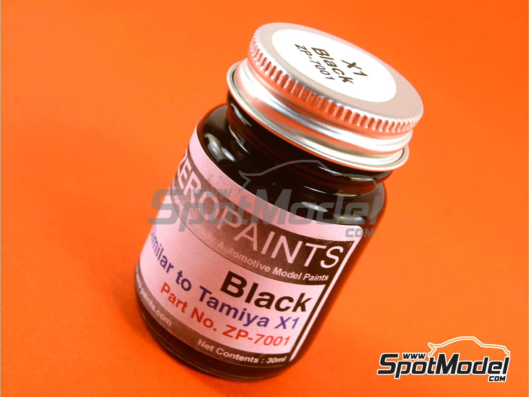 Image 1: Black - Similar to Tamiya X-1 - 1 x 30ml | Paint manufactured by Zero Paints (ref.ZP-7001)