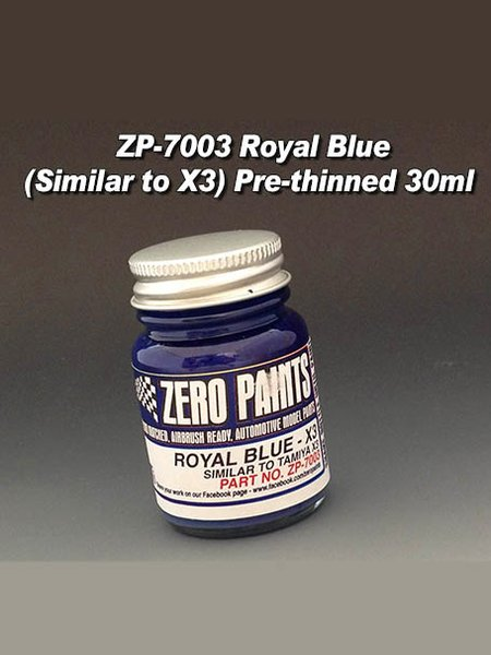 Royal Blue - Similar to X-3 - 1 x 30ml   Paint manufactured by Zero Paints (ref.ZP-7003) image