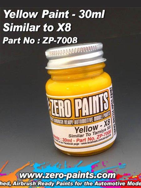 Amarillo - Yellow - Similar a Tamiya X-8 - 1 x 30ml | Pintura fabricado por Zero Paints (ref.ZP-7008) image