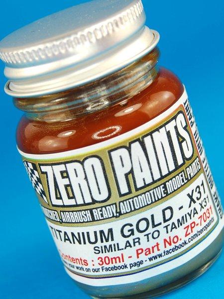 Titanio dorado - similar a X-31 - Titanium Gold similar to X31 - 1 x 30ml | Pintura fabricado por Zero Paints (ref.ZP-7031) image
