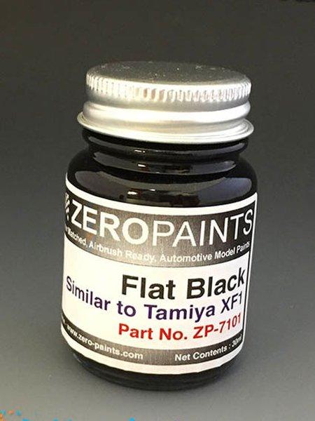 Negro mate - Flat black - Similar a Tamiya XF-1 - 1 x 30ml | Pintura fabricado por Zero Paints (ref.ZP-7101) image