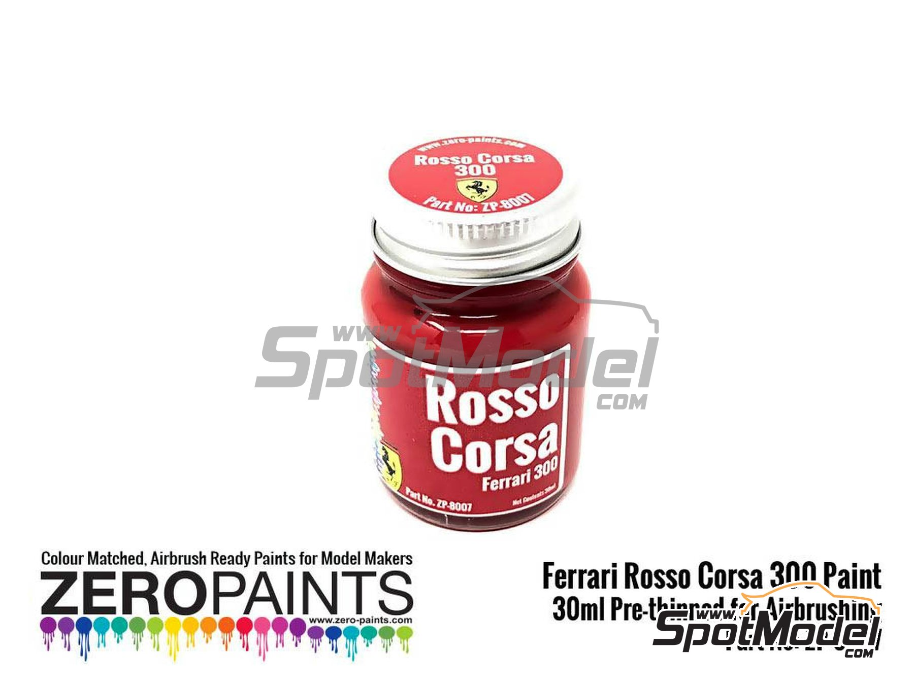 Image 1: Ferrari Rosso Corsa 300 - 1 x 30ml | Paint manufactured by Zero Paints (ref.ZP-8007-300)