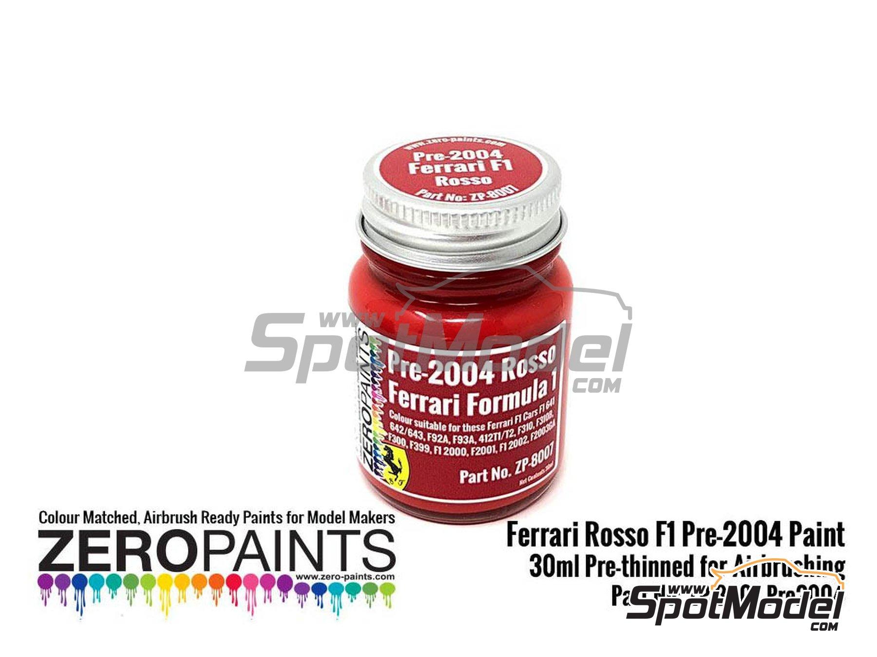 Image 1: Rojo Ferrari F1 pre-2004 - Ferrari Rosso Formula1 Pre-2004 - 1 x 30ml | Pintura fabricado por Zero Paints (ref.ZP-8007-PRE-2004)