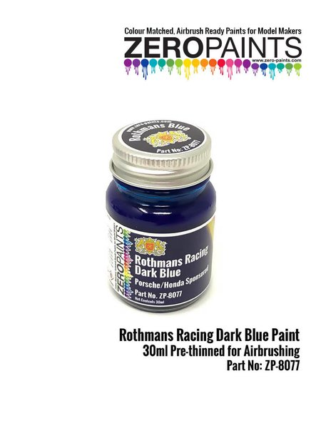 Azul Rothmans Racing Dark Blue Porsche Honda - 1 x 30ml | Pintura fabricado por Zero Paints (ref. ZP-8077) image