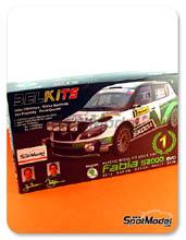 Kit 1/24 Belkits - Skoda Fabia S2000 Evo - Nº 1, 3 - Hanninen + Markkula, Kopecky + Dresler - Rally de la Republica Checa 2012 - maqueta de plástico