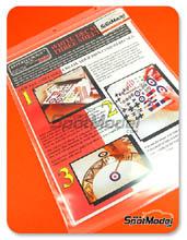 Calcas Bare Metal Foil Co - Papel de calca blanco para impresora de tinta - White laser decal film - 27x20 cm - 3 unidades