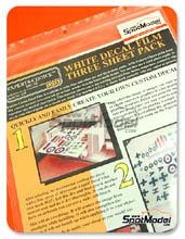 Calcas Bare Metal Foil Co - Papel de calca blanco para impresora laser - White laser decal film - 27x20 cm - 3 unidades