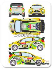 Calcas 1/24 Racing Decals 43 - Ford Fiesta WRC LMP - Nº 9 - D. Oliveira + C. Magalhaes - Rally de Portugal 2012 para kit de Belkits BEL-003