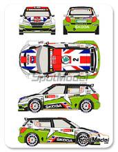Calcas 1/24 Racing Decals 43 - Skoda Fabia S2000 Total - Nº 2 - Mikkelsen + Floene - Ypres 2012 para kit de Belkits BEL-004