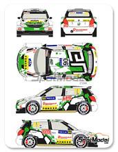Calcas 1/24 Racing Decals 43 - Skoda Fabia S2000 Ponsse - Nº 90 - Lappi +  Ferm - Rally de Finlandia 2013 para kit de Belkits BEL-004