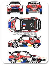 Calcas 1/24 Racing Decals 43 - Citroen DS3 WRC Gordon - Nº 1 - Sebastian Loeb - Condroz Rally 2013 para kit de Heller 80757 y 80758