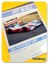 Calcas 1/24 Pit Wall - OAK Pescarolo LMP1 Gulf - Nº 15 - Monteiro + Moreau + Ragues - 24 Horas de Le Mans 2011 para kit de SimilR SIMILR-151105