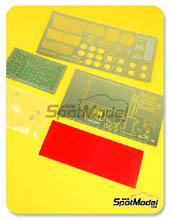 Photoetch 1/24 Hobby Design - Lancia Stratos HF Safari  para kit de Hasegawa
