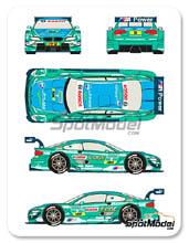 Calcas 1/24 Racing Decals 43 - BMW M3 Castrol - Nº 7 - Fartua - DTM 2013 para kits de Revell REV07178 y REV07082