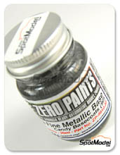 Pintura Zero Paints - Base metalica extra fina para pinturas Candy - Extra Fine Metallic Silver Base for Candy Paints - 30ml para Aerógrafo