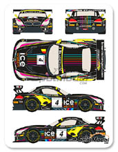 Decal 1/24 by Racing Decals 43 - BMW Z4 GT3 Ice Watch - Nº 4 - M. Martin + N. Catsburg - Baku World Challenge 2013 for Fujimi kit