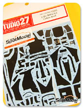 Decals 1/20 by Studio27 - McLaren MP4/13 - Carbon pattern decal for Tamiya kit
