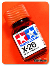 Enamel Paint by Tamiya - X-26 - Clear orange - 10ml