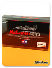 Kit 1/20 by Tamiya - McLaren Honda MP4/4 - Nº 11, 12 - Alain Prost, Ayrton Senna - World Championship 1988