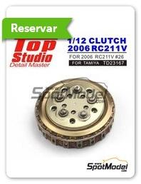 Top Studio: Embrague escala 1/12 - Honda RC211V 2006 - piezas de metal mecanizado, fotograbados, piezas de resina y manual de instrucciones - para kits de Tamiya TAM14106 y TAM14108