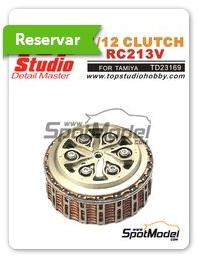 Top Studio: Embrague escala 1/12 - Honda RC213V - fotograbados, piezas de resina y manual de instrucciones - para kit de Tamiya TAM14130