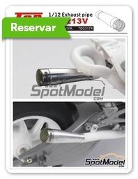 Top Studio: Escapes escala 1/12 - Honda RC213V - piezas de resina, piezas de metal torneado y otros materiales - para kit de Tamiya TAM14130