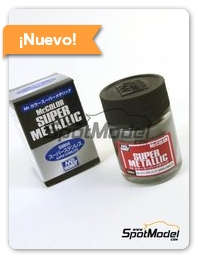 Mr Hobby: Pintura - Acero inoxidable - Super stainless