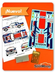 Reji Model: Decoración escala 1/24 - Nissan 240 RS Castrol Nº 3 - Tony Pond (GB) + Rob Arthur (GB) - Boucles de SPA 1983 - fotograbados, piezas de resina, calcas de agua y manual de instrucciones - para kit de Beemax Model Kits B24008
