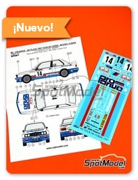 Reji Model: Decoración escala 1/24 - BMW M3 E30 Prodrive Nº 14 - Marc Duez (BE) + Georges Biar (BE) - Rally Tour de Corse 1987 - calcas de agua y manual de instrucciones - para kit de Beemax Model Kits B24007