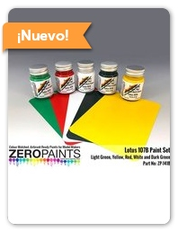 Zero Paints: Set de pinturas - Lotus Ford 107B - para kit de Tamiya TAM20038