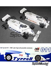 ACE: Model car kit 1/20 scale - Tyrrell Ford 011 - World Championship 1981 - resin multimaterial kit