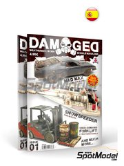 AK Interactive: Magazine - Damaged - Weathered and worn: Number 1 - spanish edition