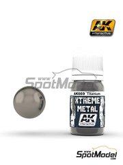 AK Interactive: Pintura Xtreme metal - Titanio