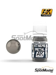 AK Interactive: Xtreme metal paint - Titanium