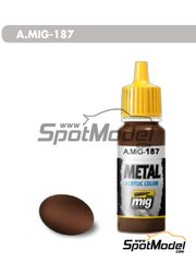 AMMO of Mig Jimenez: Acrylic paint - Jet Exhaust Burnt Iron metal - 17ml