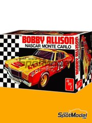 AMT: Model car kit 1/25 scale - Chevrolet Monte Carlo Coca Cola #12 - Robert Arthur 'Bobby' Allison (US) - Nascar - National Association for Stock Car Auto Racing 1972 - plastic parts, rubber parts, water slide decals, assembly instructions and painting instructions image