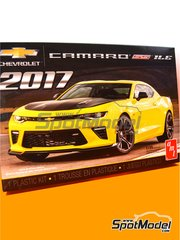 AMT: Model car kit 1/25 scale - Chevrolet Camaro SS LE1 2017 - plastic parts, rubber parts, water slide decals, assembly instructions and painting instructions image