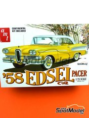 AMT: Model car kit 1/25 scale - Edsel Pacer 1958 - rubber parts, water slide decals, assembly instructions and painting instructions